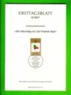 GERMANY, 1977, Ersttagblatt Nr 9, Carl Friedrich Gauss - [7] Federal Republic