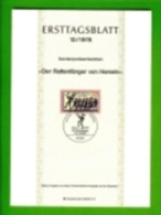 GERMANY, 1978, Ersttagblatt Nr 10, Der Rattenfaenger Von Hameln - [7] Federal Republic