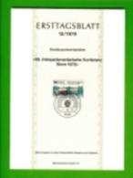 GERMANY, 1978, Ersttagblatt Nr 13,  Interparlamentarische Konferenz - [7] Federal Republic
