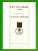 GERMANY, 1978, Ersttagblatt Nr 14,  Deutscher Katholikentag - [7] Federal Republic