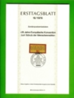GERMANY, 1978, Ersttagblatt Nr 16,  Schutz Der Mensenrechten - [7] Federal Republic