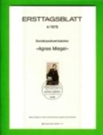 GERMANY, 1979, Ersttagblatt Nr 4,  Agnes Miegel - [7] Federal Republic