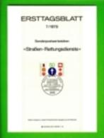 GERMANY, 1979, Ersttagblatt Nr 7,  Strassen Rettungsdienste - [7] Federal Republic