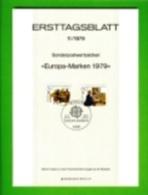 GERMANY, 1979, Ersttagblatt Nr 11,  Europa-Marken - [7] Federal Republic