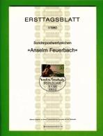 GERMANY, 1980, Ersttagblatt Nr 1,  Anseim Feuerbach - [7] Federal Republic