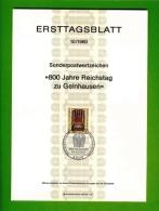GERMANY, 1980, Ersttagblatt Nr 10,  Reichstag Zu Geinhausen - [7] Federal Republic