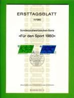 GERMANY, 1980, Ersttagblatt Nr 11+11a,  Fuer Den Sprot - [7] Federal Republic