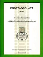 GERMANY, 1980, Ersttagblatt Nr 13,  450 Jahre Confessio Augustana - [7] Federal Republic