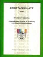 GERMANY, 1980, Ersttagblatt Nr 15,  Kongress Fuer Erziehung Und BIldung Hoergeschaedigter - [7] Federal Republic