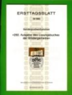 GERMANY, 1980, Ersttagblatt Nr 16,  Losungsbuches Der Bruedergemeine - [7] Federal Republic