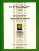 GERMANY, 1980, Ersttagblatt Nr 17,  Benedikt Von Nursia - [7] Federal Republic