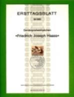 GERMANY, 1980, Ersttagblatt Nr 18,  Friedrich Joseph Haass - [7] Federal Republic