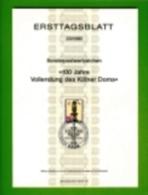 GERMANY, 1980, Ersttagblatt Nr 23,  Vollendung Des Koelner Doms - [7] Federal Republic