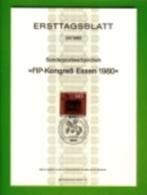 GERMANY, 1980, Ersttagblatt Nr 24,  FIP-Kongress Essen - [7] Federal Republic