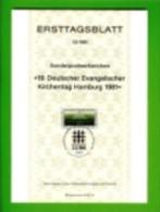 GERMANY, 1981, Ersttagblatt Nr 12,  Evangelischer Kirchentag Hamburg - [7] Federal Republic