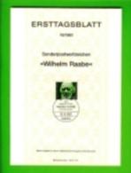 GERMANY, 1981, Ersttagblatt Nr 18,,  Wilhelm Raabe - [7] Federal Republic
