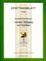 GERMANY, 1982, Ersttagblatt Nr 4,  Johan Wolfgang Von Goethe - [7] Federal Republic