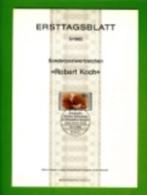 GERMANY, 1982, Ersttagblatt Nr 5,  Robert Koch - [7] Federal Republic