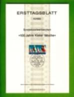 GERMANY, 1982, Ersttagblatt Nr 10,  100 Jahre Kieler Woche - [7] Federal Republic