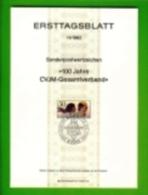 GERMANY, 1982, Ersttagblatt Nr 11,  100 Jahre CVJM-Gesamtverband - [7] Federal Republic