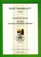 GERMANY, 1982, Ersttagblatt Nr 18,  Deutsches Aussaetzigen-Hilfswerk - [7] Federal Republic