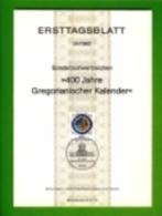 GERMANY, 1982, Ersttagblatt Nr 24,  400 Jahre Gregorianischer Kalende - [7] Federal Republic