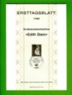 GERMANY, 1983, Ersttagblatt Nr 1,  Edith Stein - [7] Federal Republic