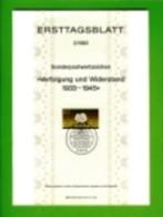 GERMANY, 1983, Ersttagblatt Nr 2,  Verfolgung Und Widerstand - [7] Federal Republic