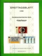 GERMANY, 1983, Ersttagblatt Nr 3,  Bauhaus - [7] Federal Republic