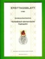 GERMANY, 1983, Ersttagblatt Nr 4,  Schwaebisch-Alemanische Fastnacht - [7] Federal Republic