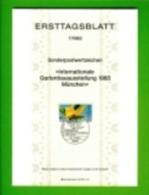 GERMANY, 1983, Ersttagblatt Nr 7,  Int. Gartenbauausstellung - [7] Federal Republic
