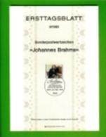GERMANY, 1983, Ersttagblatt Nr 9,  Johannes Brahms - [7] Federal Republic