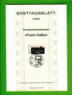 GERMANY, 1983, Ersttagblatt Nr 10,  Franz Kafka - [7] Federal Republic