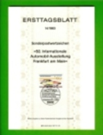 GERMANY, 1983, Ersttagblatt Nr 14,  Automobil-Ausstellung - [7] Federal Republic