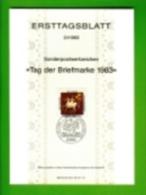 GERMANY, 1983, Ersttagblatt Nr 21,  Tag Der Briefmarke - [7] Federal Republic
