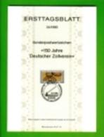 GERMANY, 1983, Ersttagblatt Nr 24,  160 Jahre Deutscher Zollverein - [7] Federal Republic