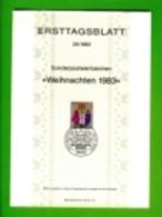 GERMANY, 1983, Ersttagblatt Nr 25,  Weihnachten - [7] Federal Republic
