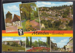Menden Im Sauerland - Poenige Turm,Gesamtansicht,Realsc Hule,Bahnhof,Kolpingstras Se - Menden