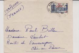 LETTRE REUNION-AFFRANCHIE N° 300  SURCHARGEE CFA