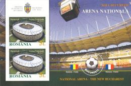 ROMANIA 2011 FOOTBALL STADIUM ,BLOCK   ,** MNH - Feuilles Complètes Et Multiples