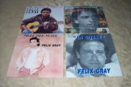 Felix Gray   °  COLLECTION DE 4  / 45 TOURS - Collections Complètes