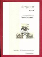 GERMANY-BERLIN 1976, Ersttagblatt Nr 9, Berlin-Ansichten - [5] Berlin