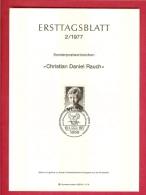 GERMANY-BERLIN 1977, Ersttagblatt Nr 2, Christian Daniel Rauch - [5] Berlin
