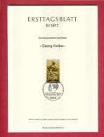 GERMANY-BERLIN 1977, Ersttagblatt Nr 6, George Kolbe - [5] Berlin