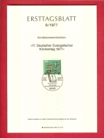 GERMANY-BERLIN 1977, Ersttagblatt Nr 9, Evangelischer Kirchentag - [5] Berlin