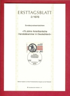 GERMANY-BERLIN 1978, Ersttagblatt Nr 2, Amerikanischer Handelskammer In Deutschland - [5] Berlin