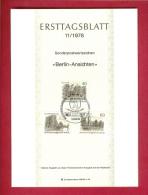 GERMANY-BERLIN 1978, Ersttagblatt Nr 11, Berlin Ansichten - [5] Berlin