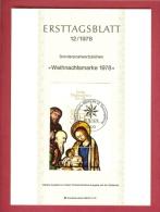 GERMANY-BERLIN 1978, Ersttagblatt Nr 12, Weihnachtsmarke (Block) - [5] Berlin