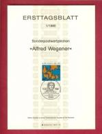 GERMANY-BERLIN 1980, Ersttagblatt Nr 1, Alfred Wegener - [5] Berlin
