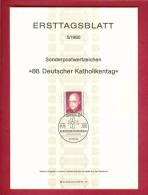 GERMANY-BERLIN 1980, Ersttagblatt Nr 5, Deutscher Katholikentag - [5] Berlin